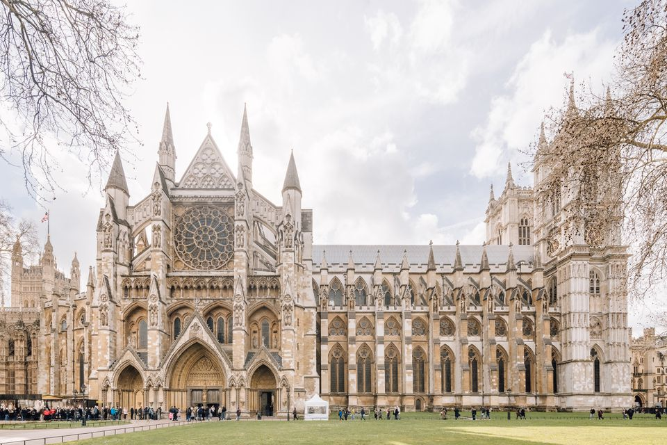 Side of Westminster Abbey in London