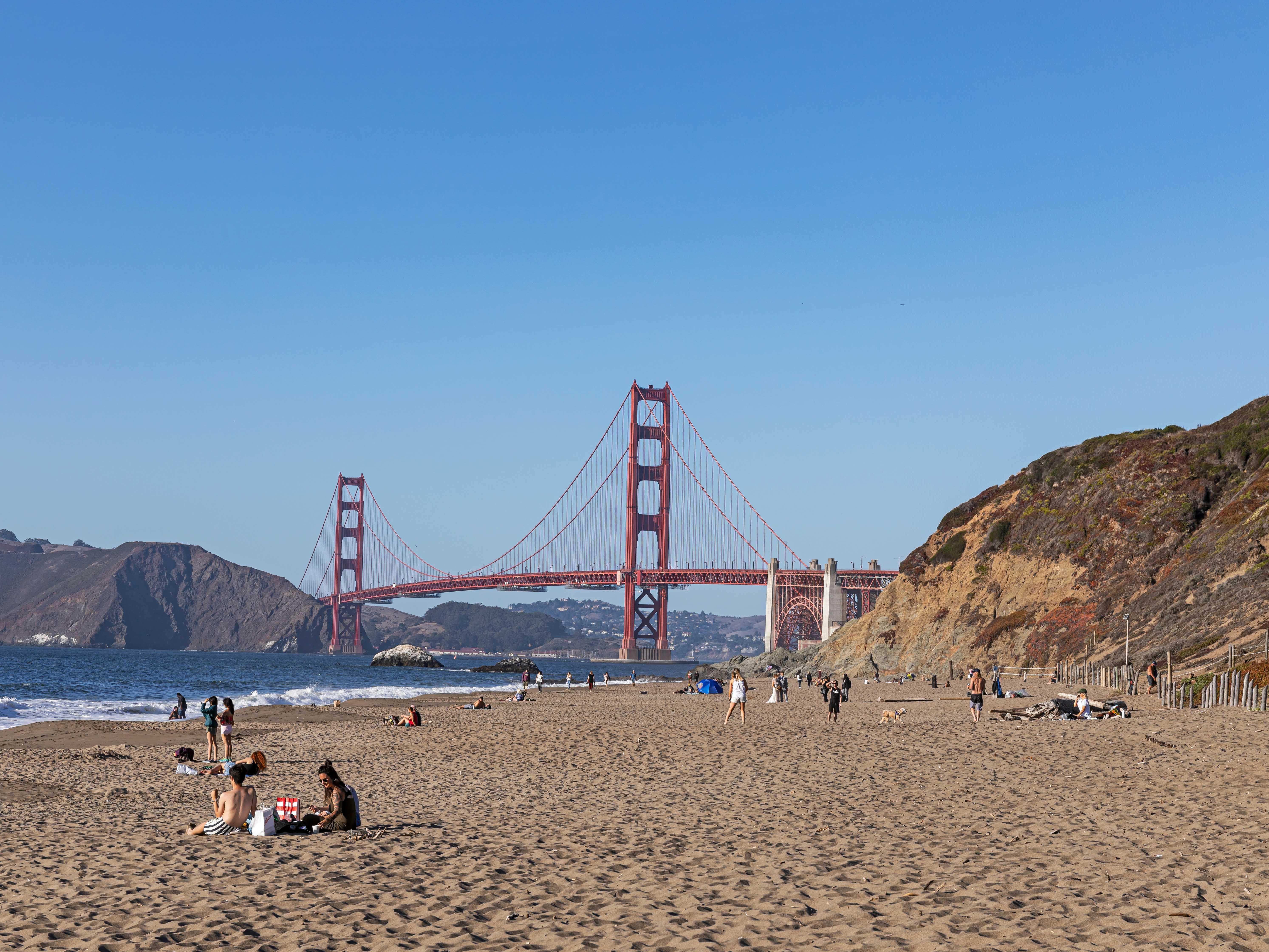 Visiting Baker Beach In San Francisco