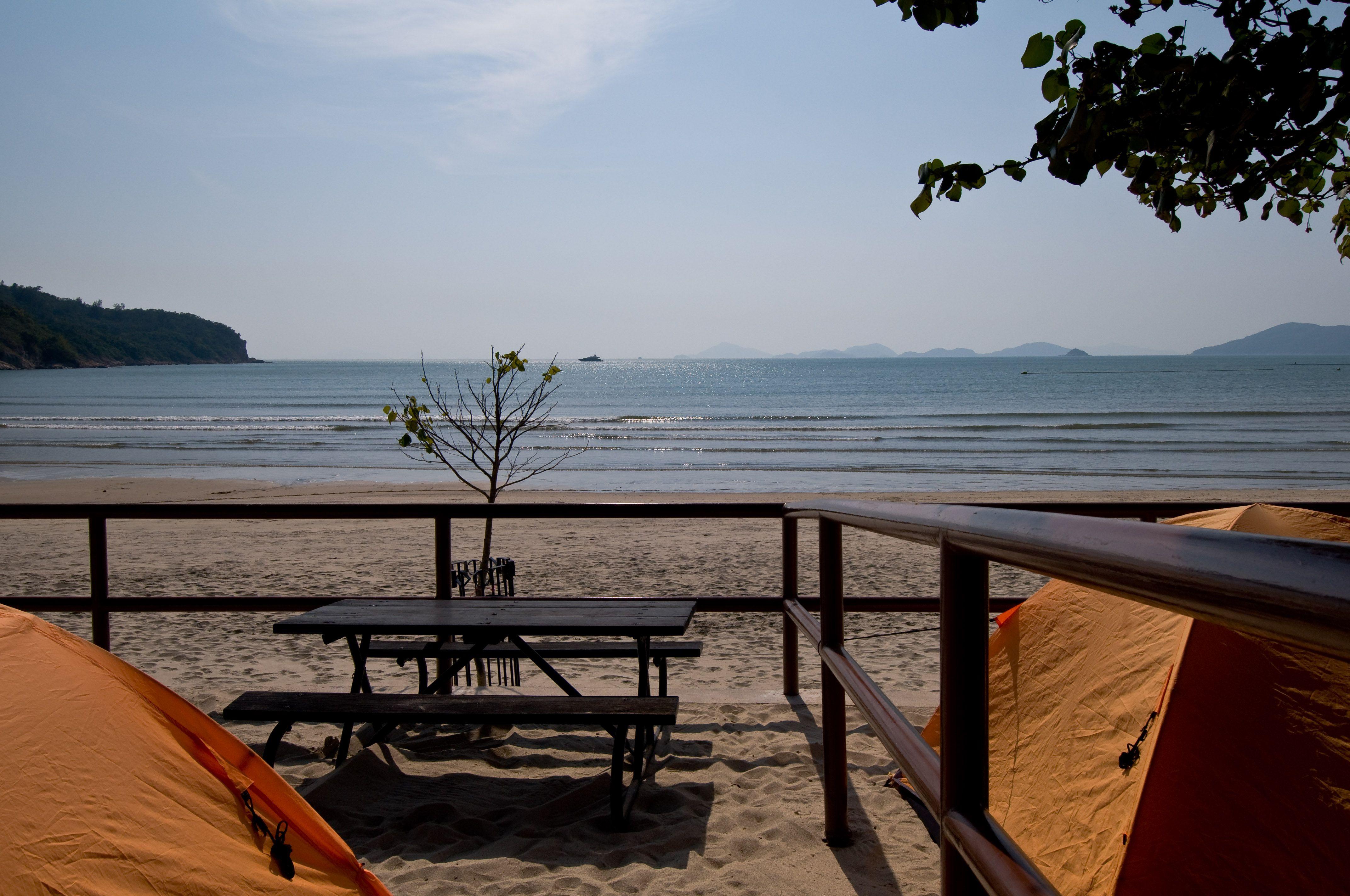 Campsite on Pui O Beach, Hong Kong