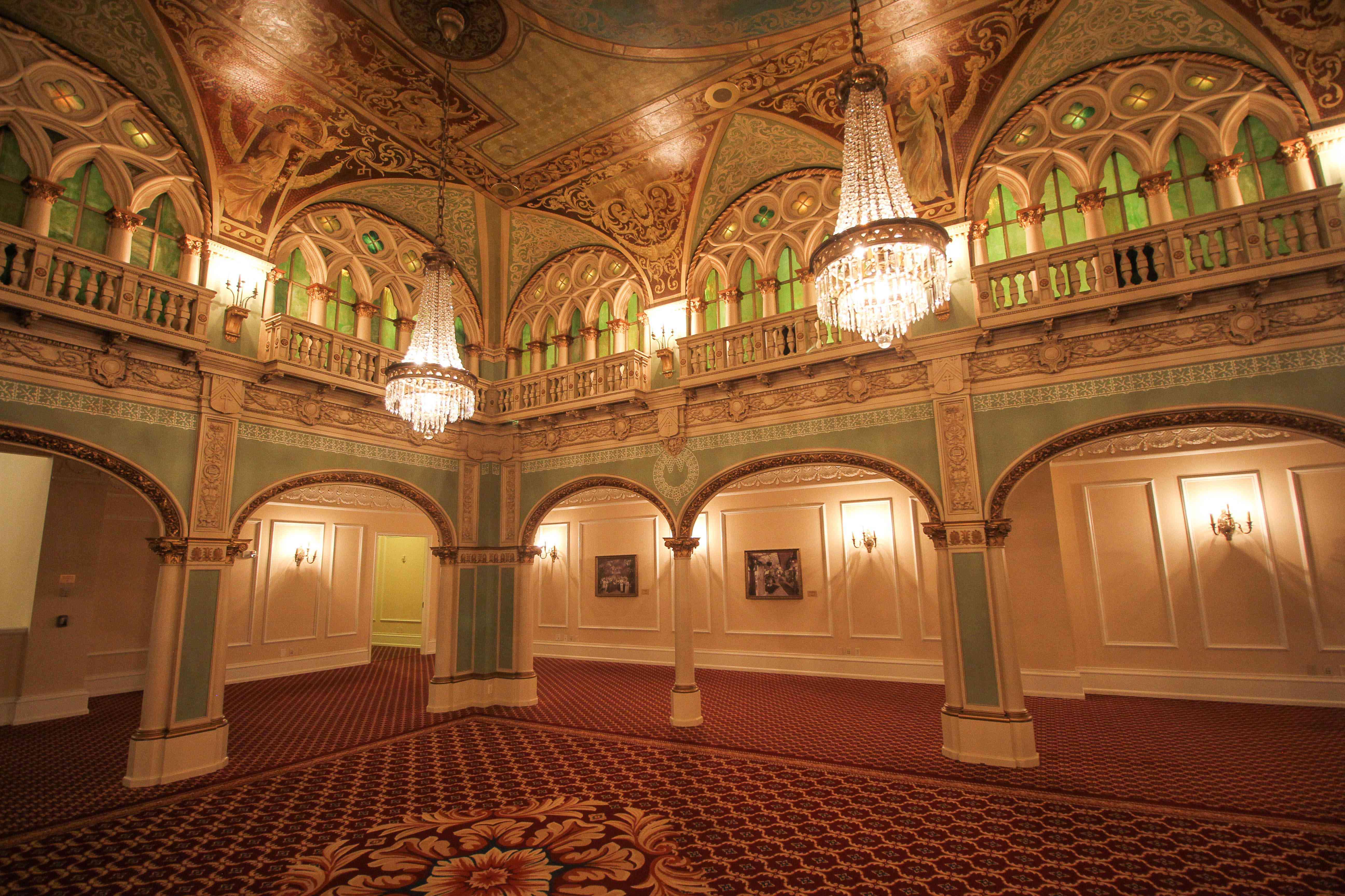 decoraciones interiores decadentes en el Hotel Davenport