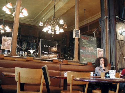 The brooding Parisian woman, a staple at the city's cafes