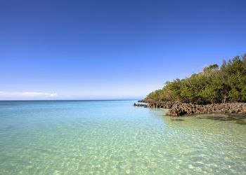 Tranquil clear water along the coast