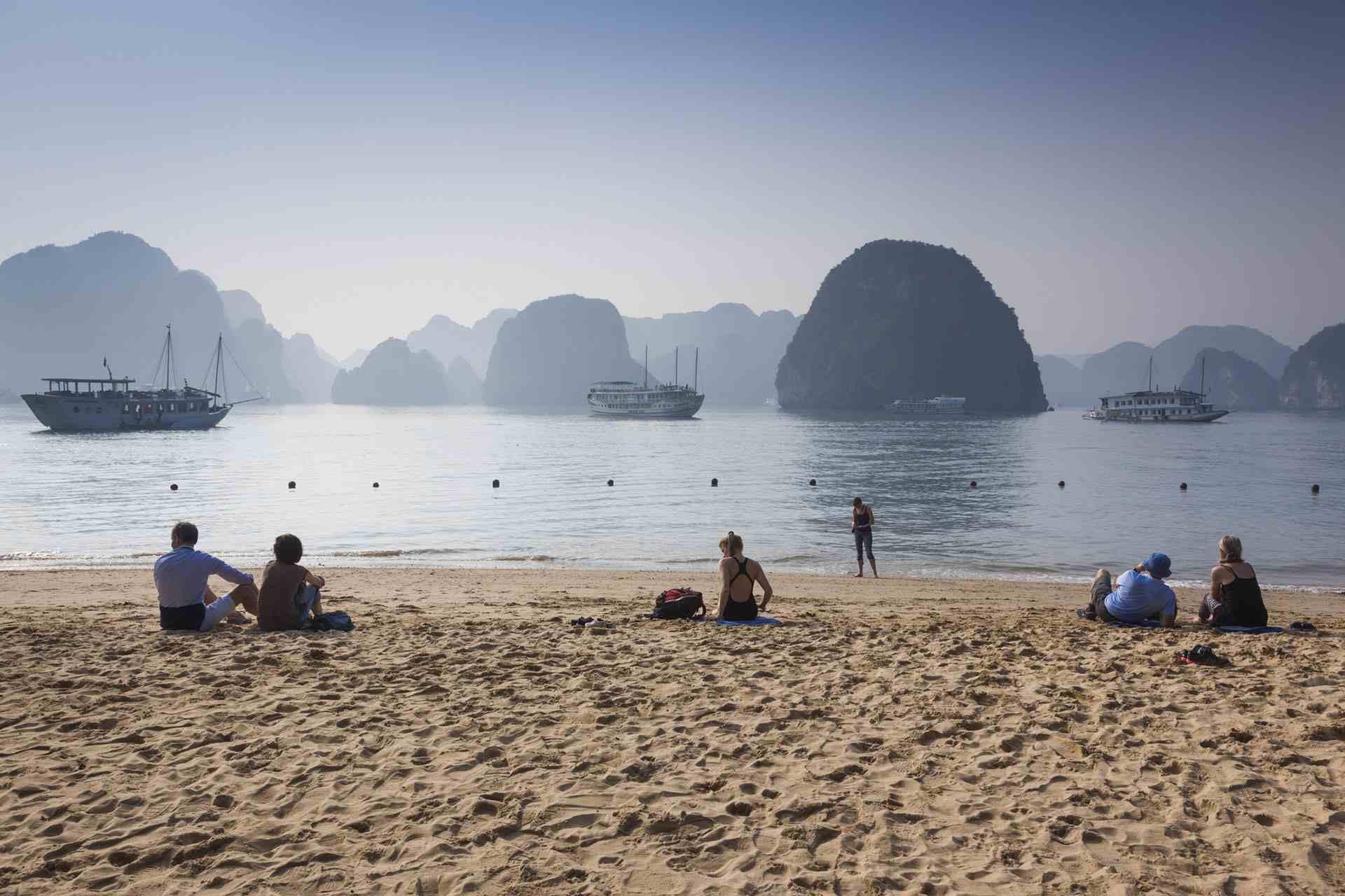 Ti Top Beach on Ha Long Bay, Vietnam
