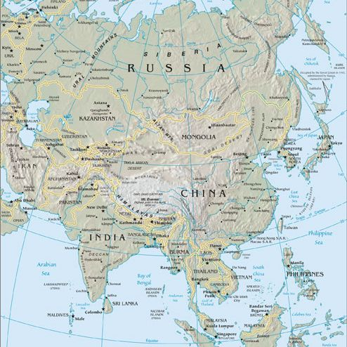 Asia Cruise Map