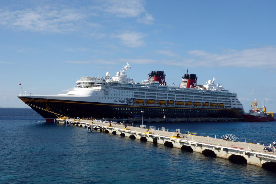 Disney Wonder at the dock in Cozumel, Mexico