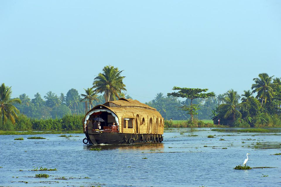 India, Kerala, Allepey, backwaters, houseboat