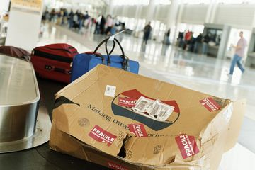 If your luggage comes out like this, it may not be covered by your travel insurance policy. Sorry about your luck.