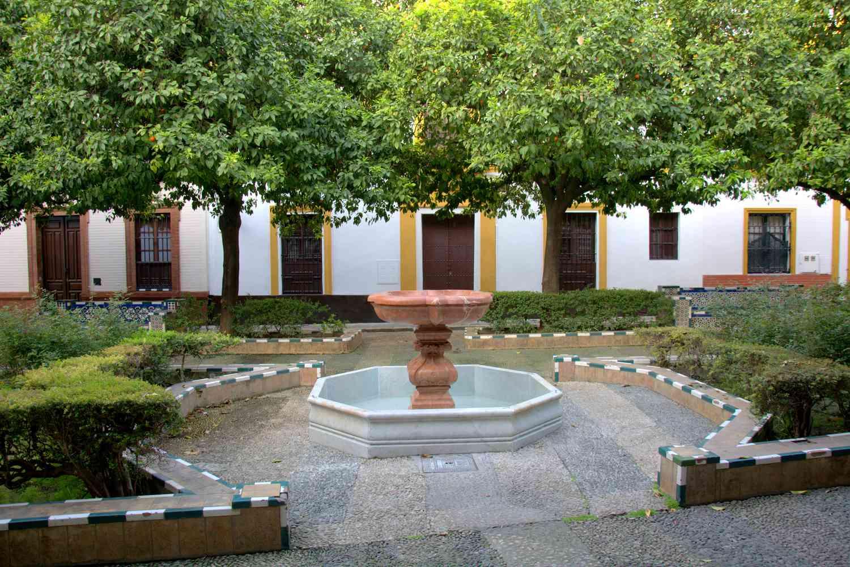 Plaza Doña Elvira in Seville, Spain