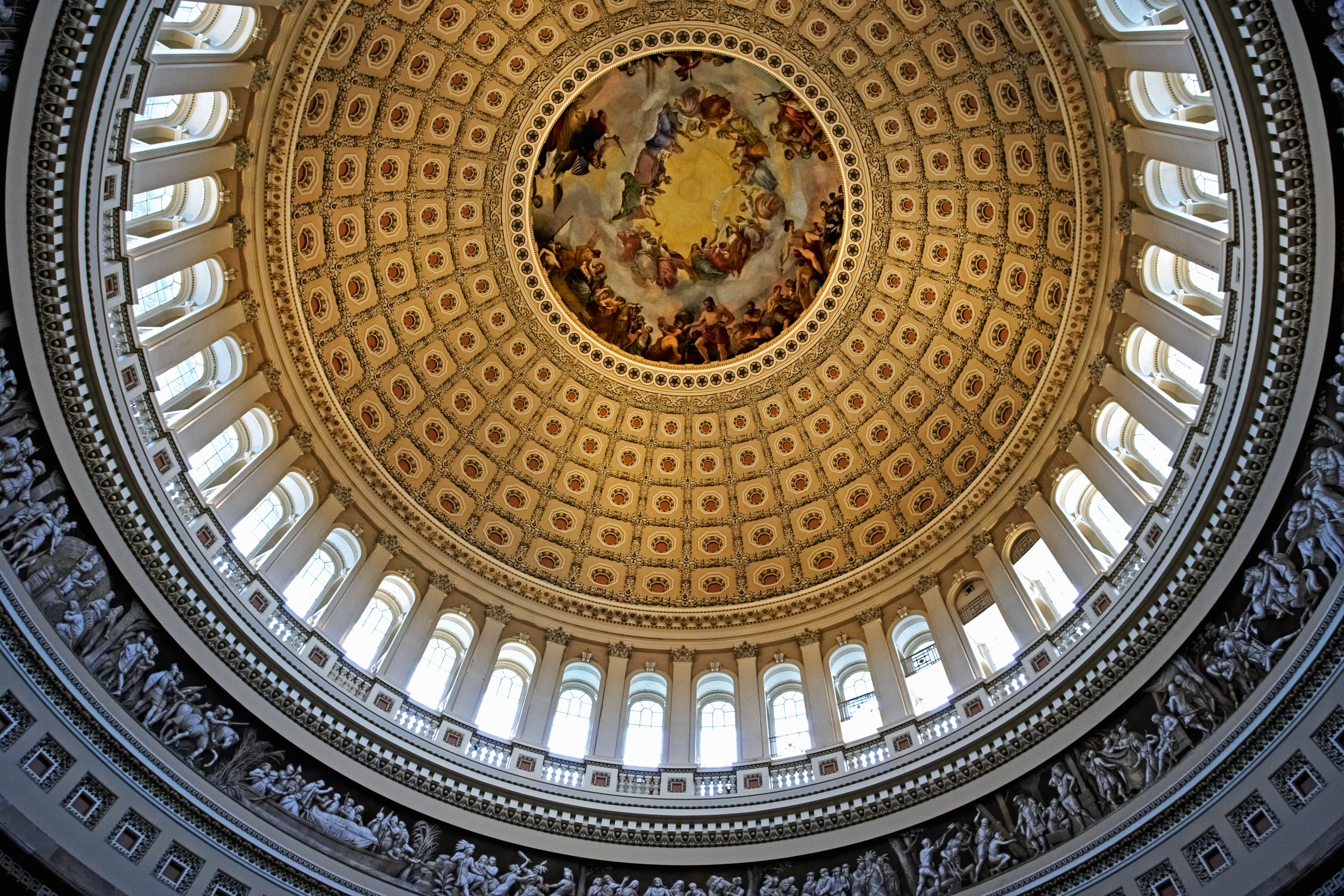 Interior view of the dome, U.S. Capitol Building