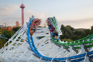Twisted Colossus Racing coaster