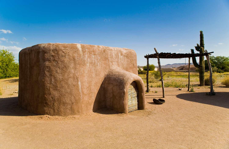 Edificio reconstruido en el Museo y Parque Arqueológico Pueblo Grande