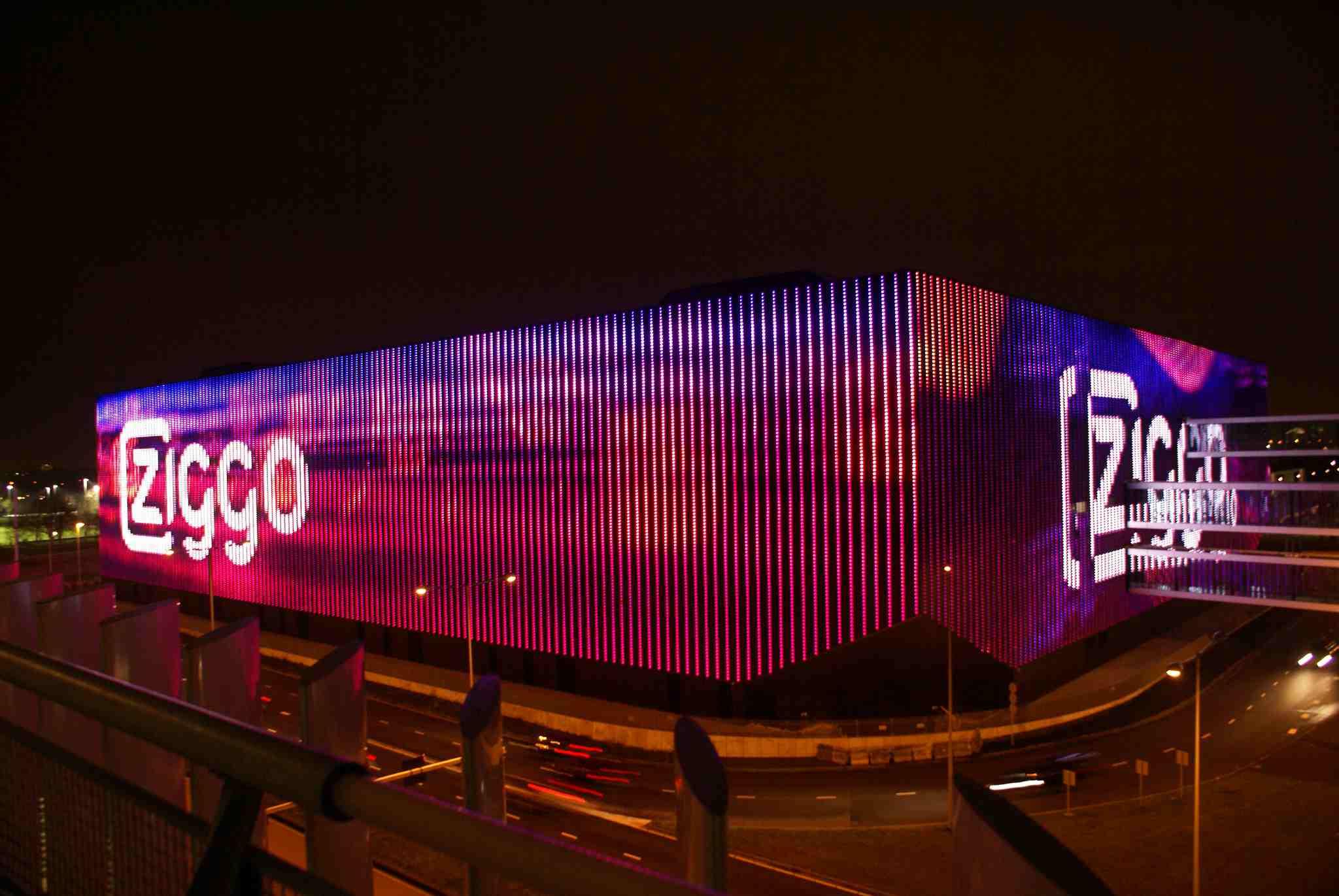 The exterior facade of the Ziggo Dome