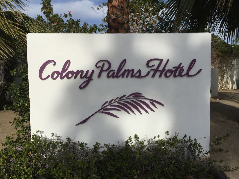 Colony Palms Hotel entrance