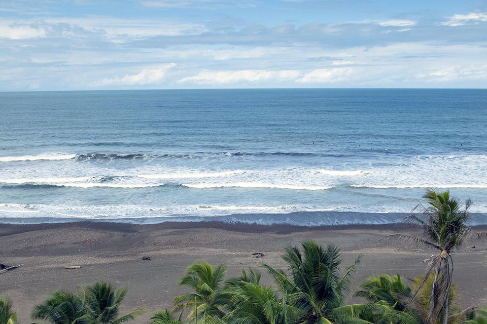 View of Jaco beach on the Pacific side of Costa Rica.