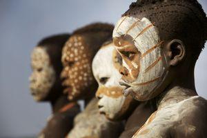 Ethiopia Suri tribe members