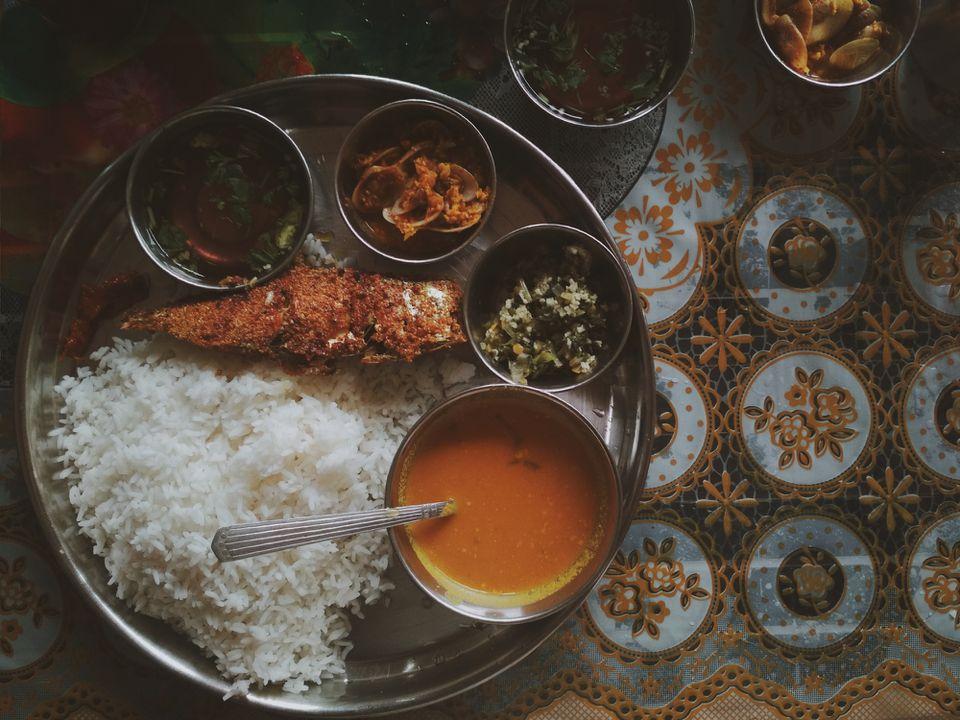 Goan thali.