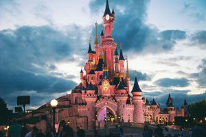 Fireworks in DisneyLand Paris July