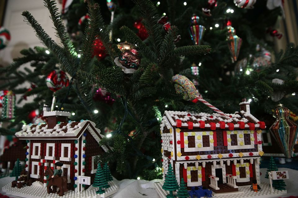 lego christmas houses - White House Christmas Decorations