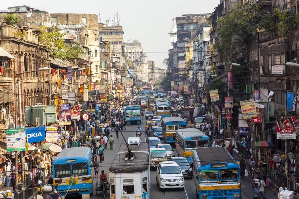 Kolkata street scene.