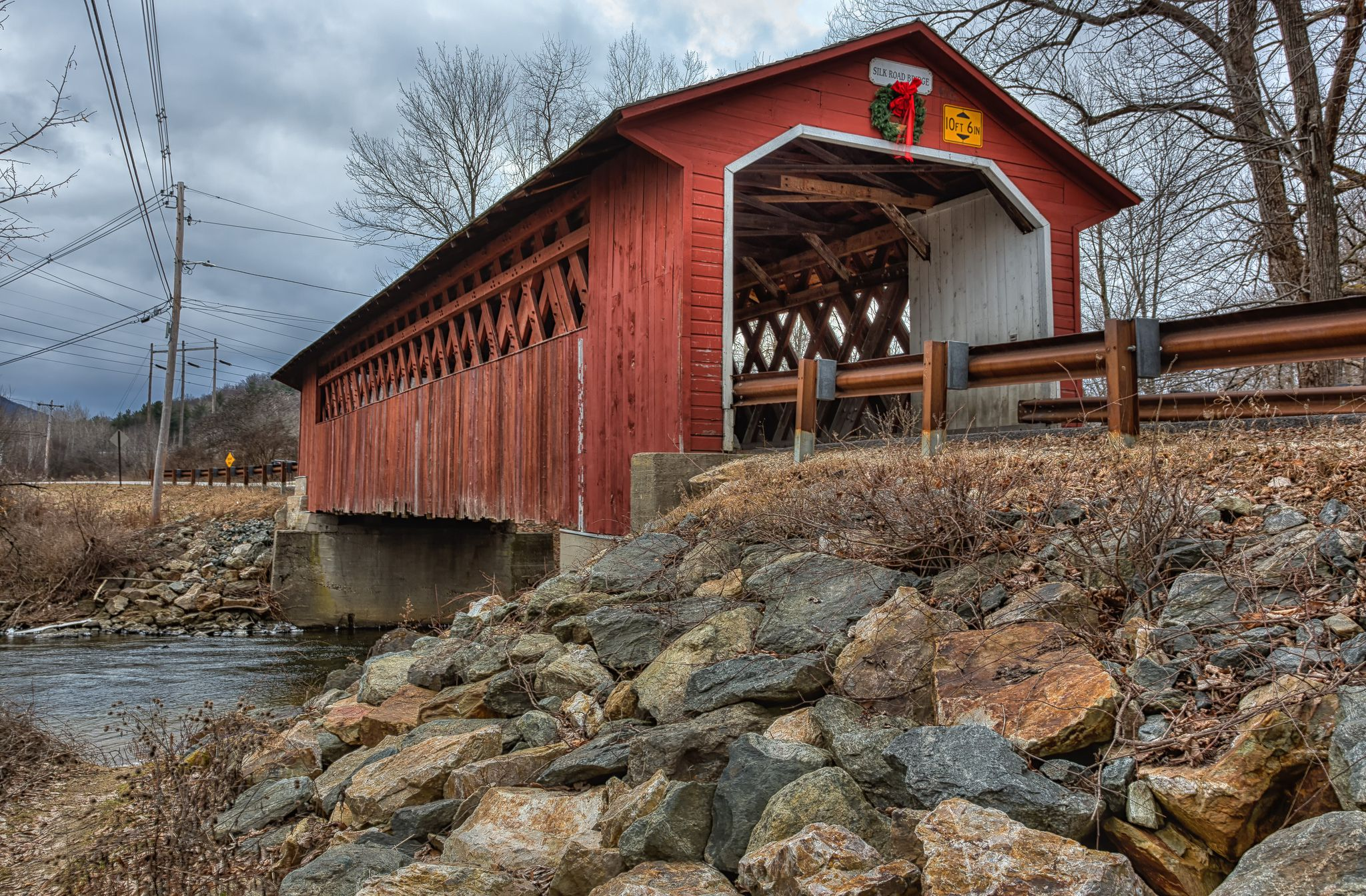 Covered Bridge Tour, right side | Scrapbooking layouts ... |New England Covered Bridges Tour