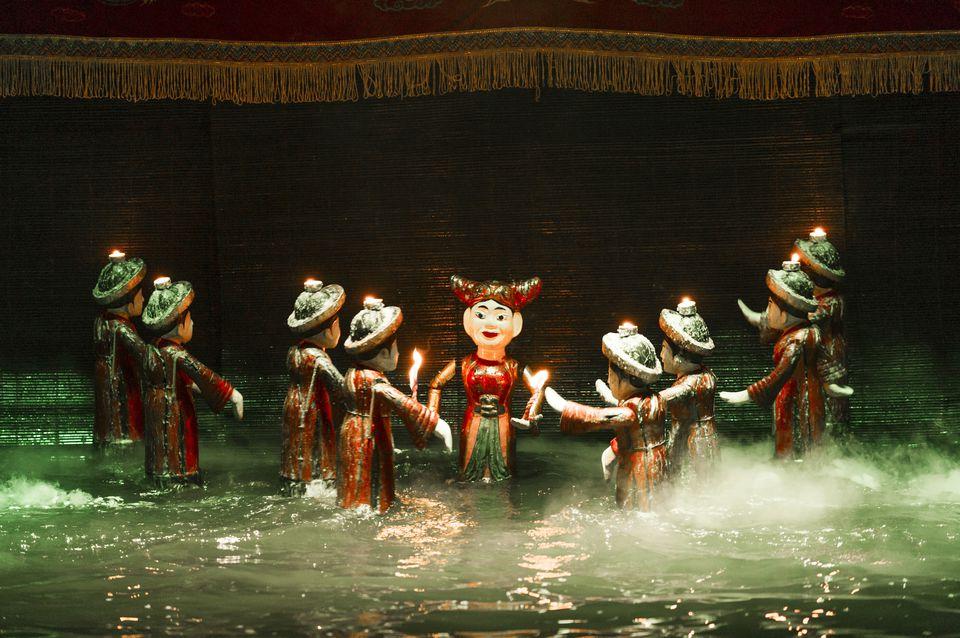 Vietnamese water puppet show