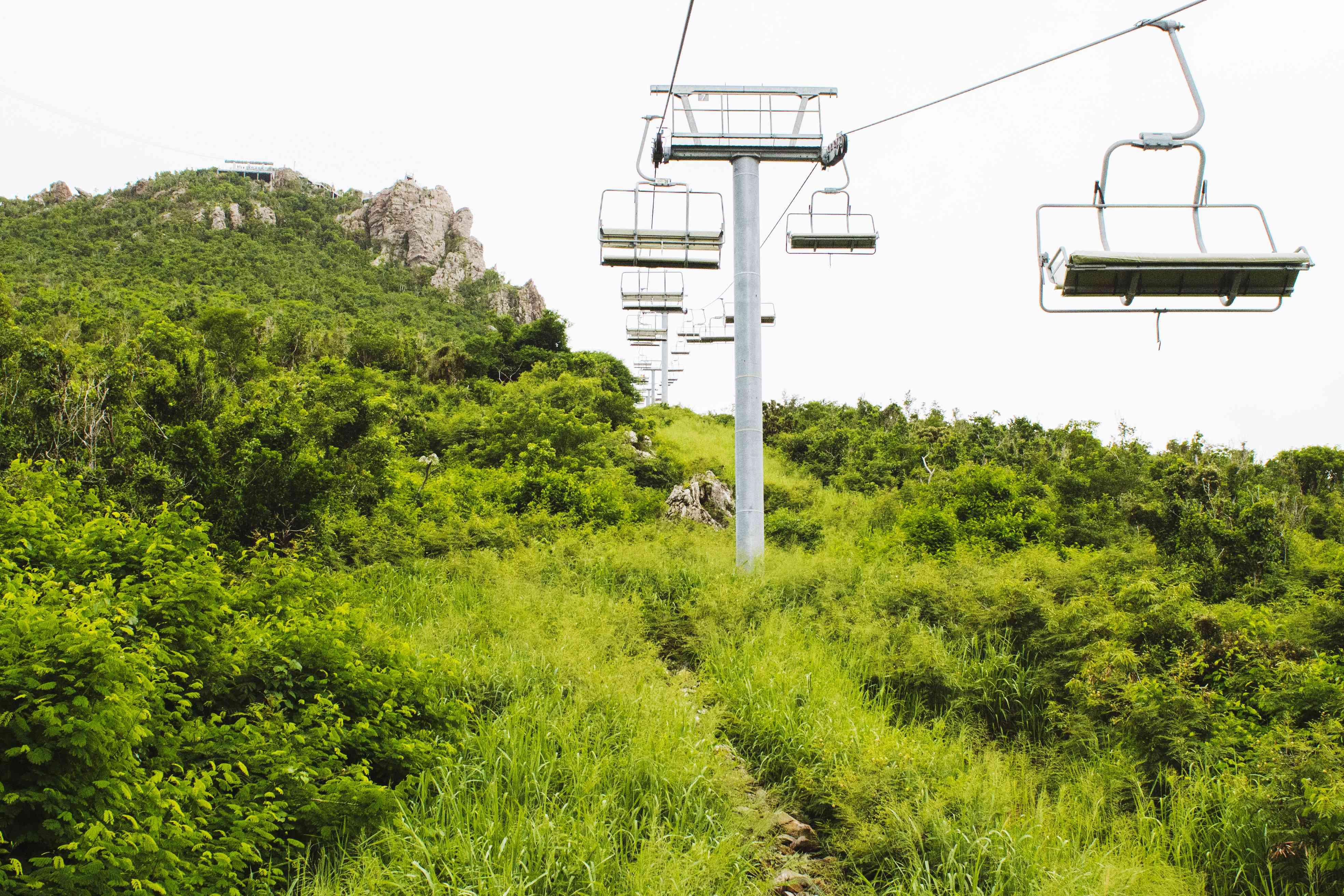 Gondola ride up the mountain at Rainforest Adventures