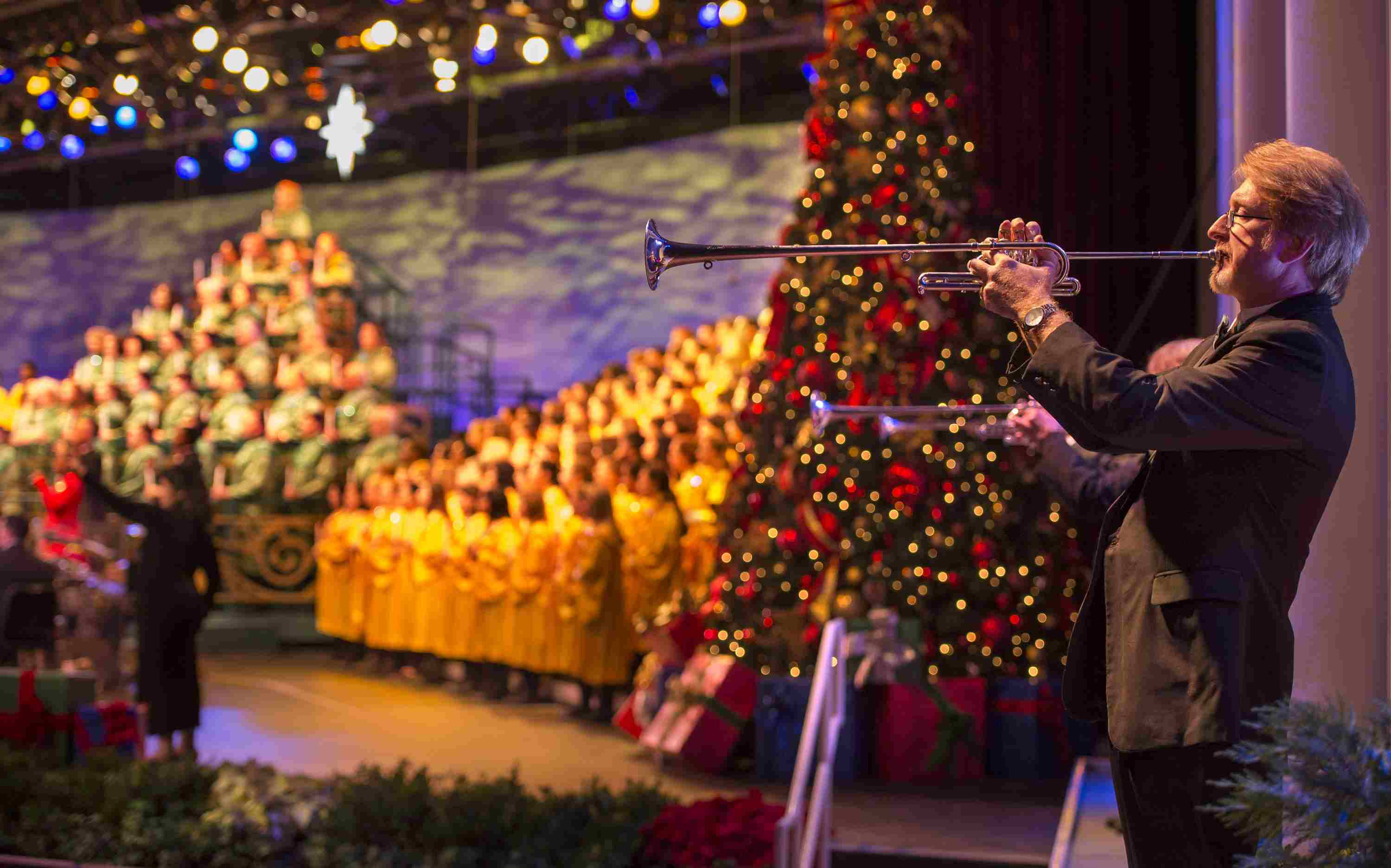 Candlelight Processional during Epcot International Festival of the Holidays