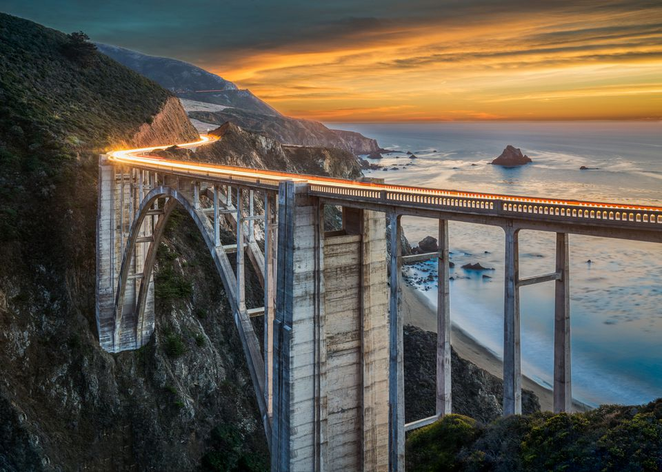 Bixby Bridge at Sunset - Big Sur, CA
