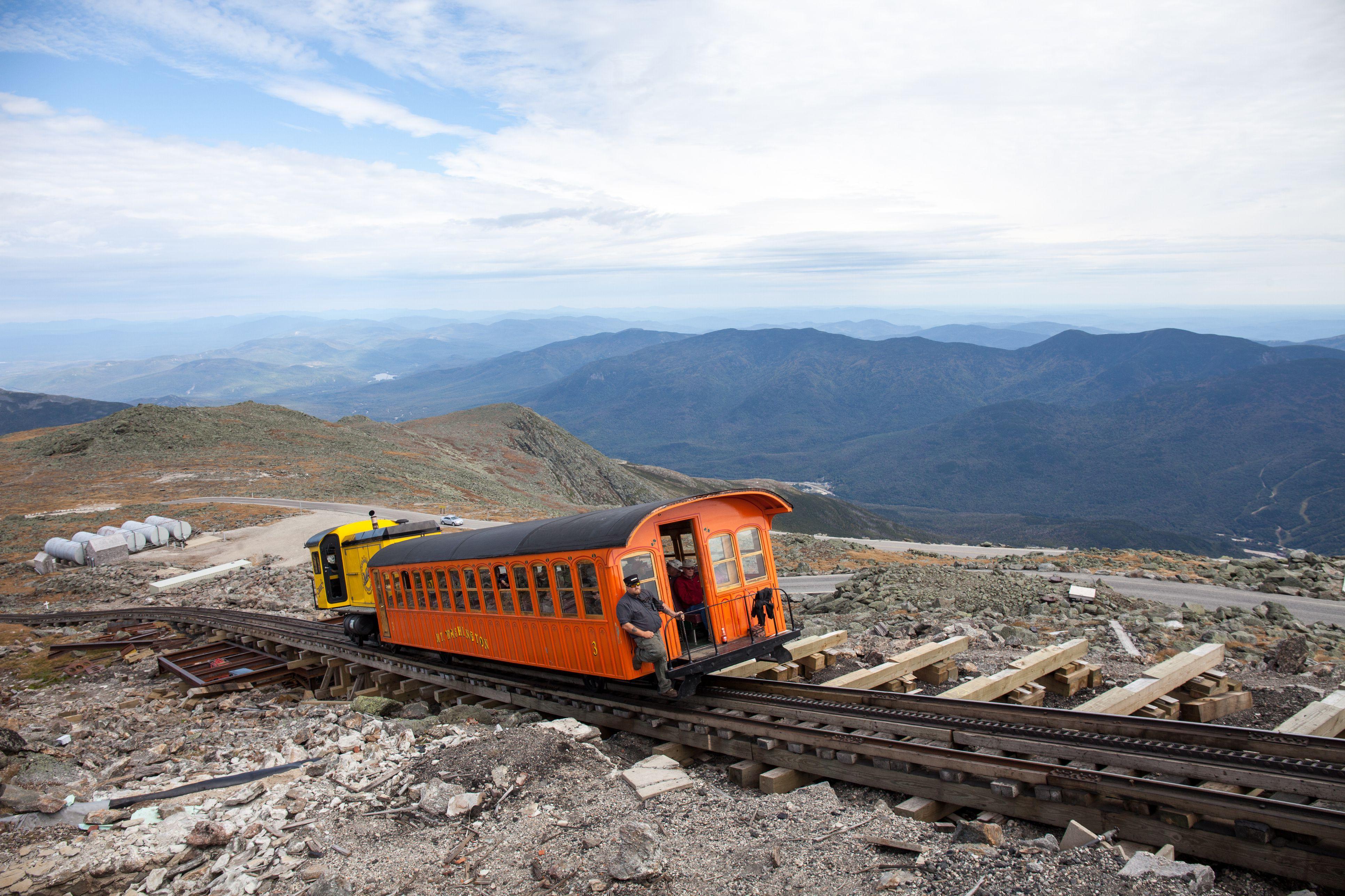 Mount Washington Cog Railway in New Hampshire White Mountains