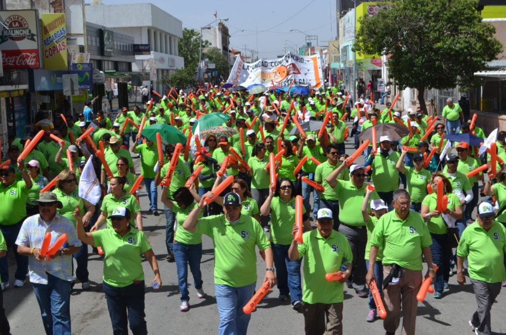May Day Workers March in Mexico
