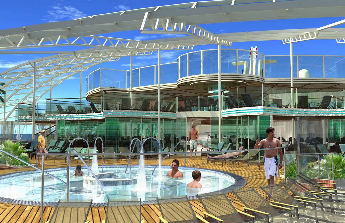 Oasis of the Seas - Solarium on the Oasis of the Seas from Royal Caribbean International