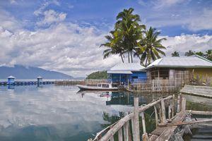 Tranquil Lake Ranau in Lumbok side