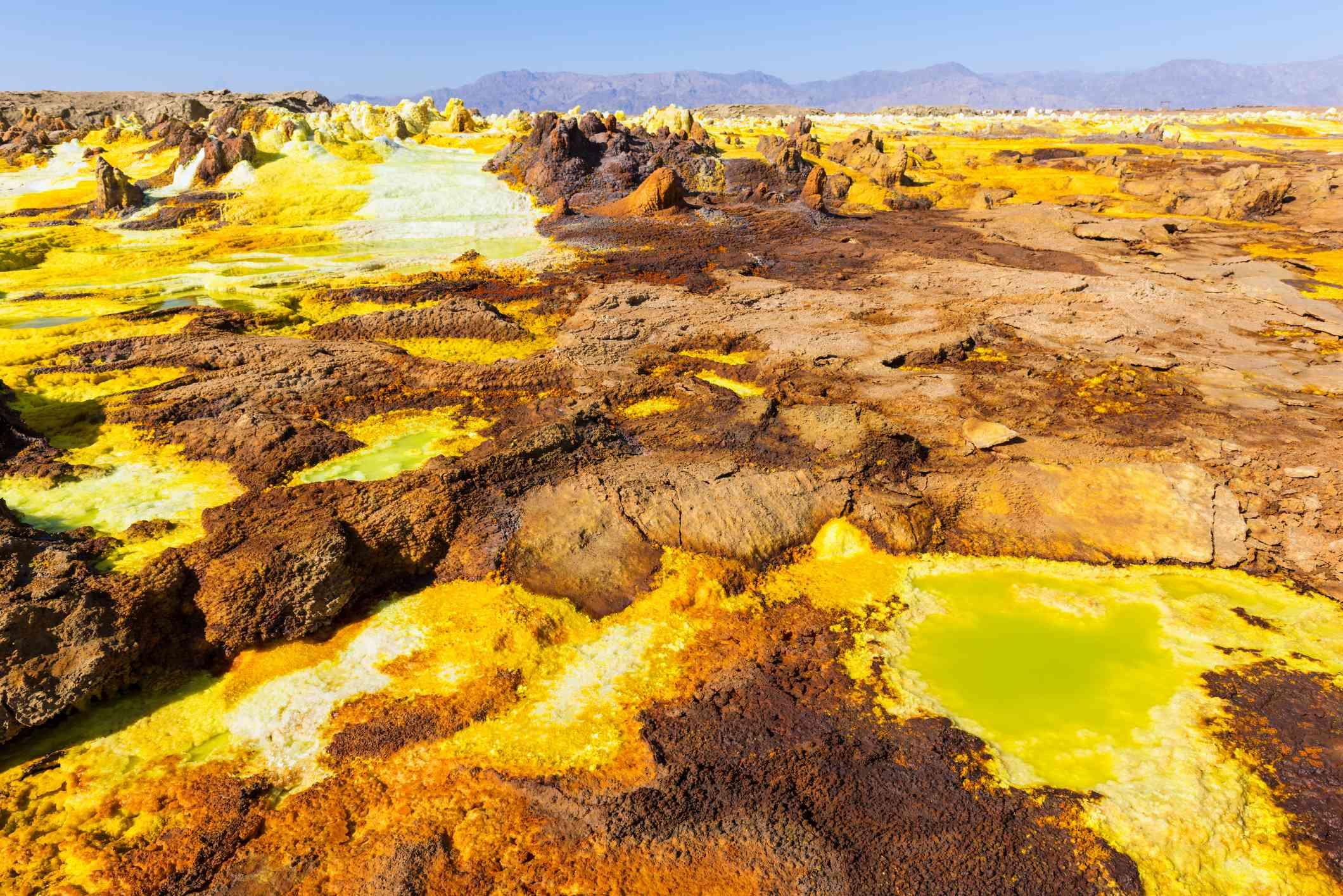 Hot springs in the Danakil Depression, Ethiopia