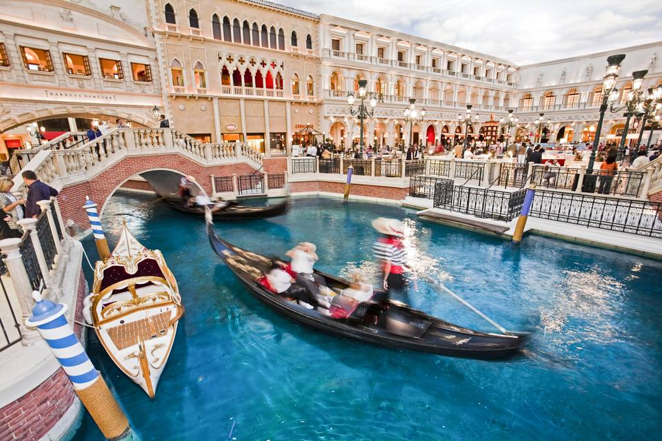 Gondola Rides At Venetian Hotel