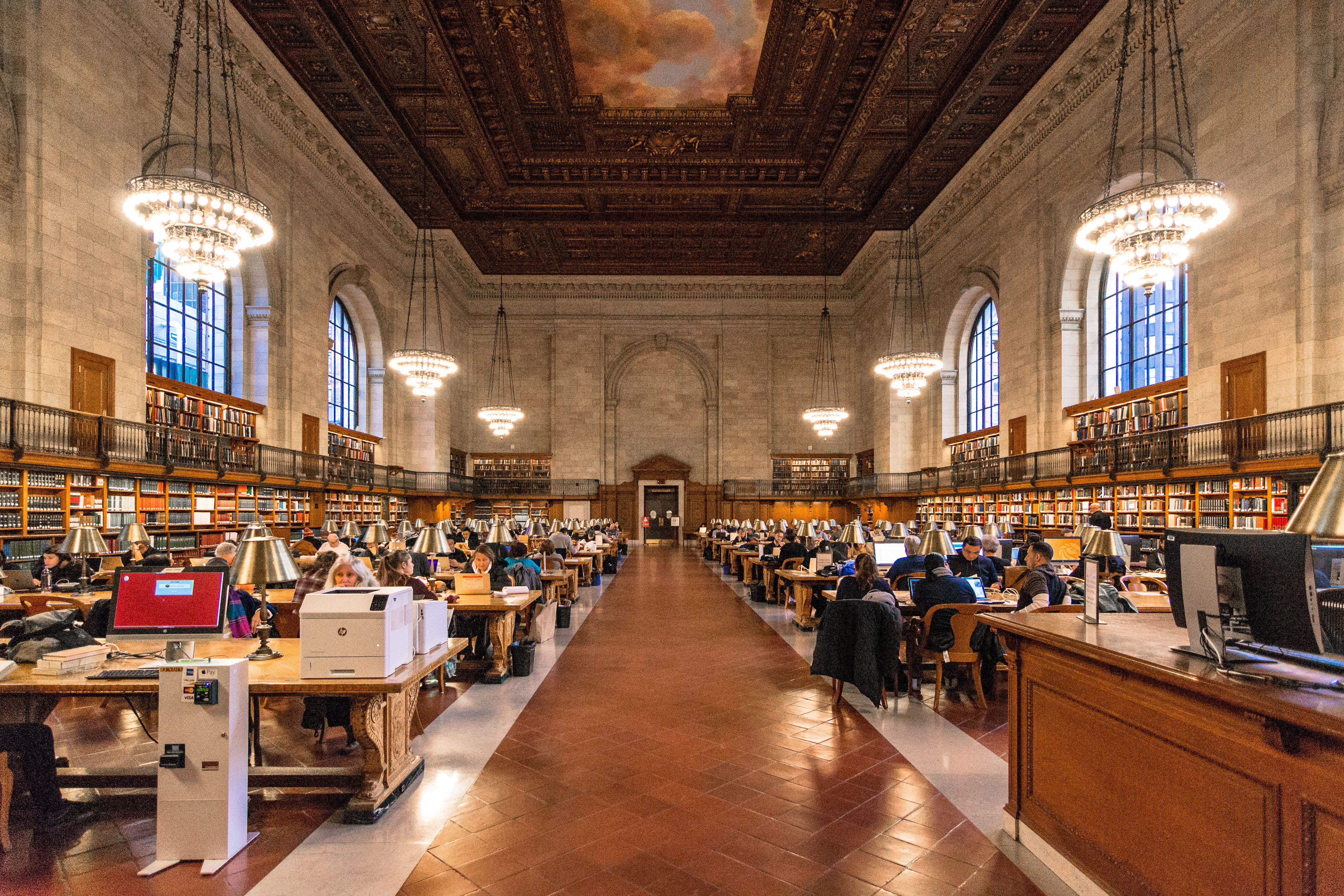 The rose room in the New York Public Library