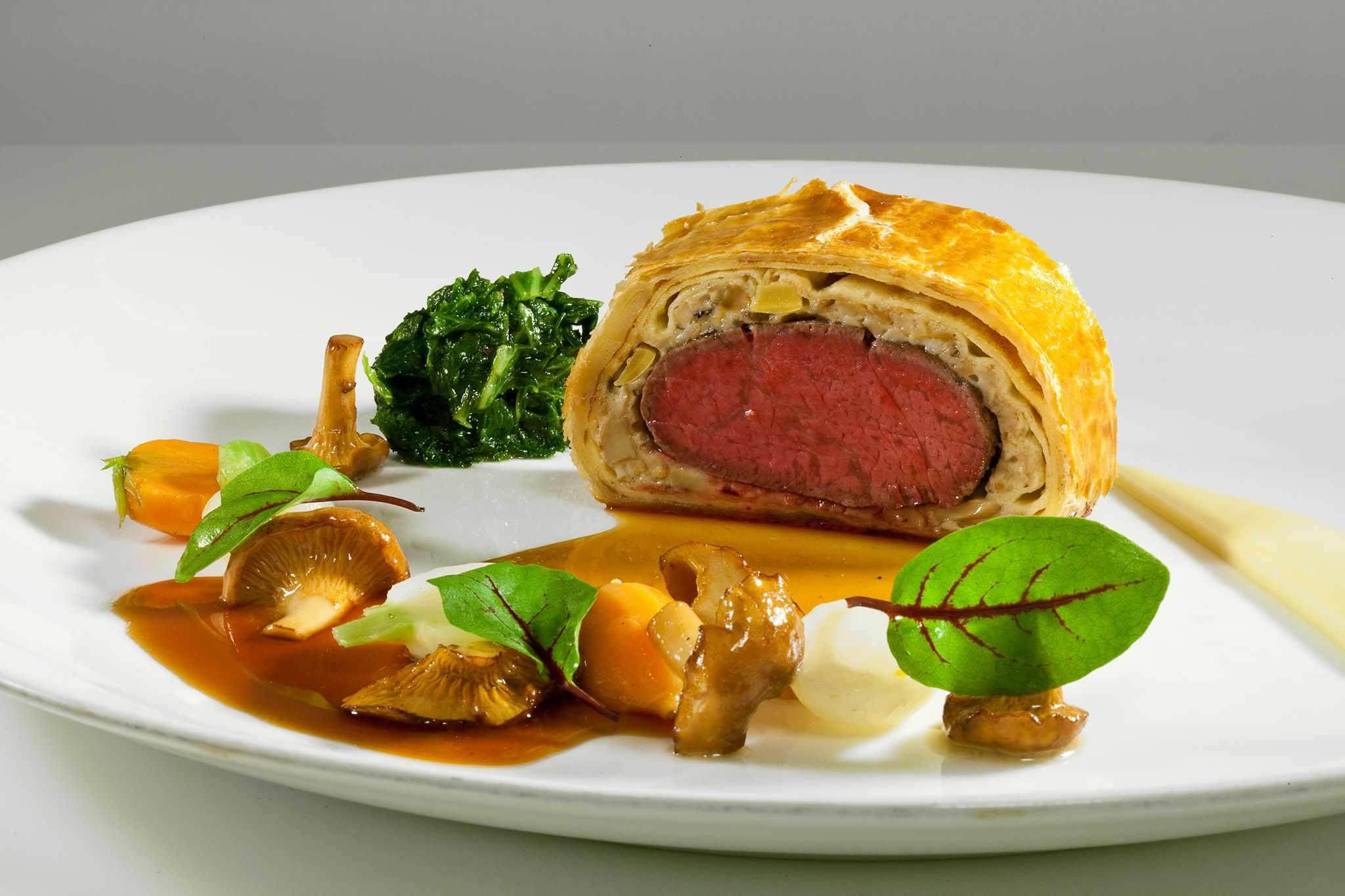 Meat and mushroom dish