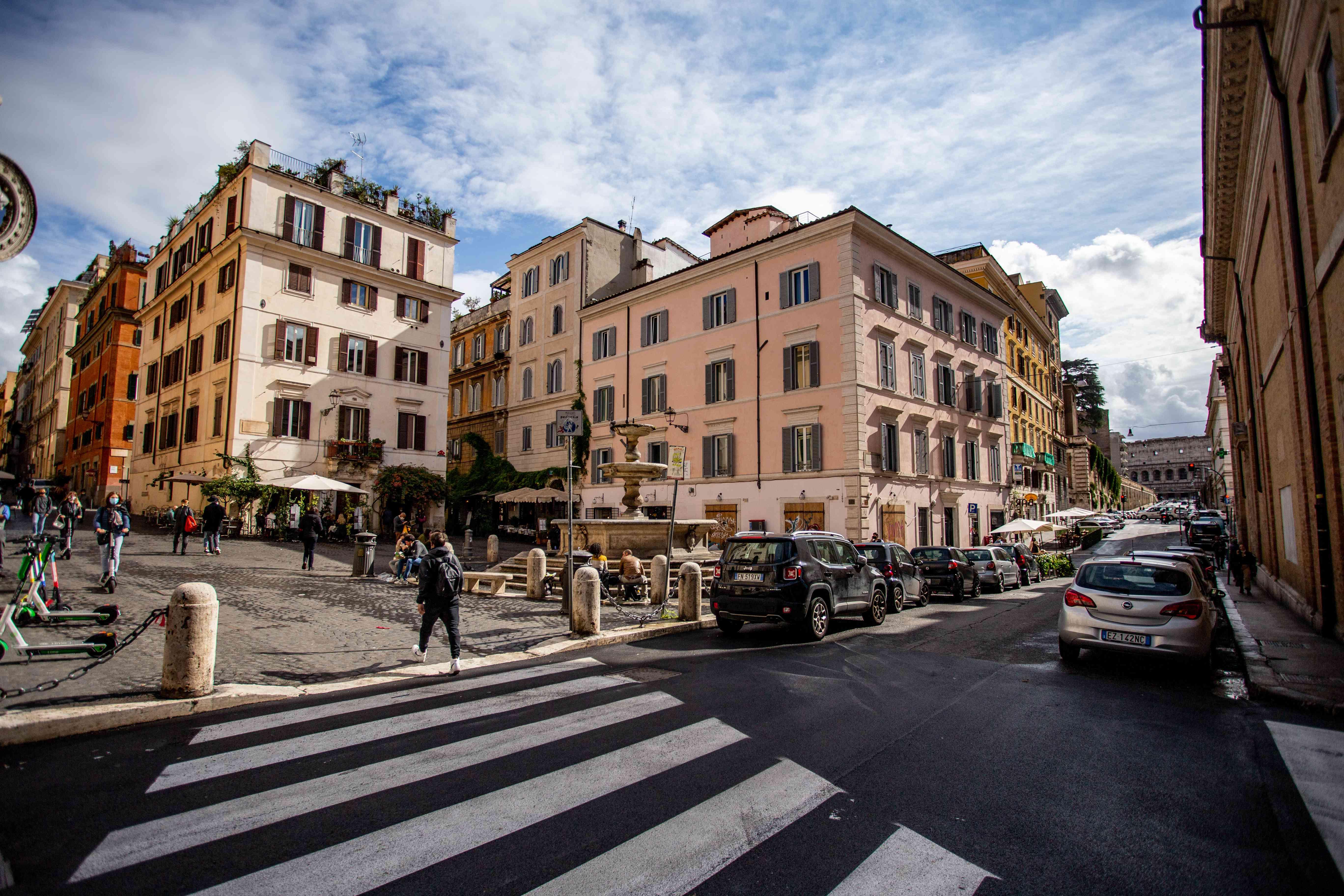 Piazza della Madonna dei Monti in Rome, Italy