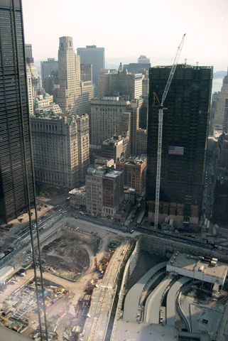 View of Ground Zero from 7 World Trade Center