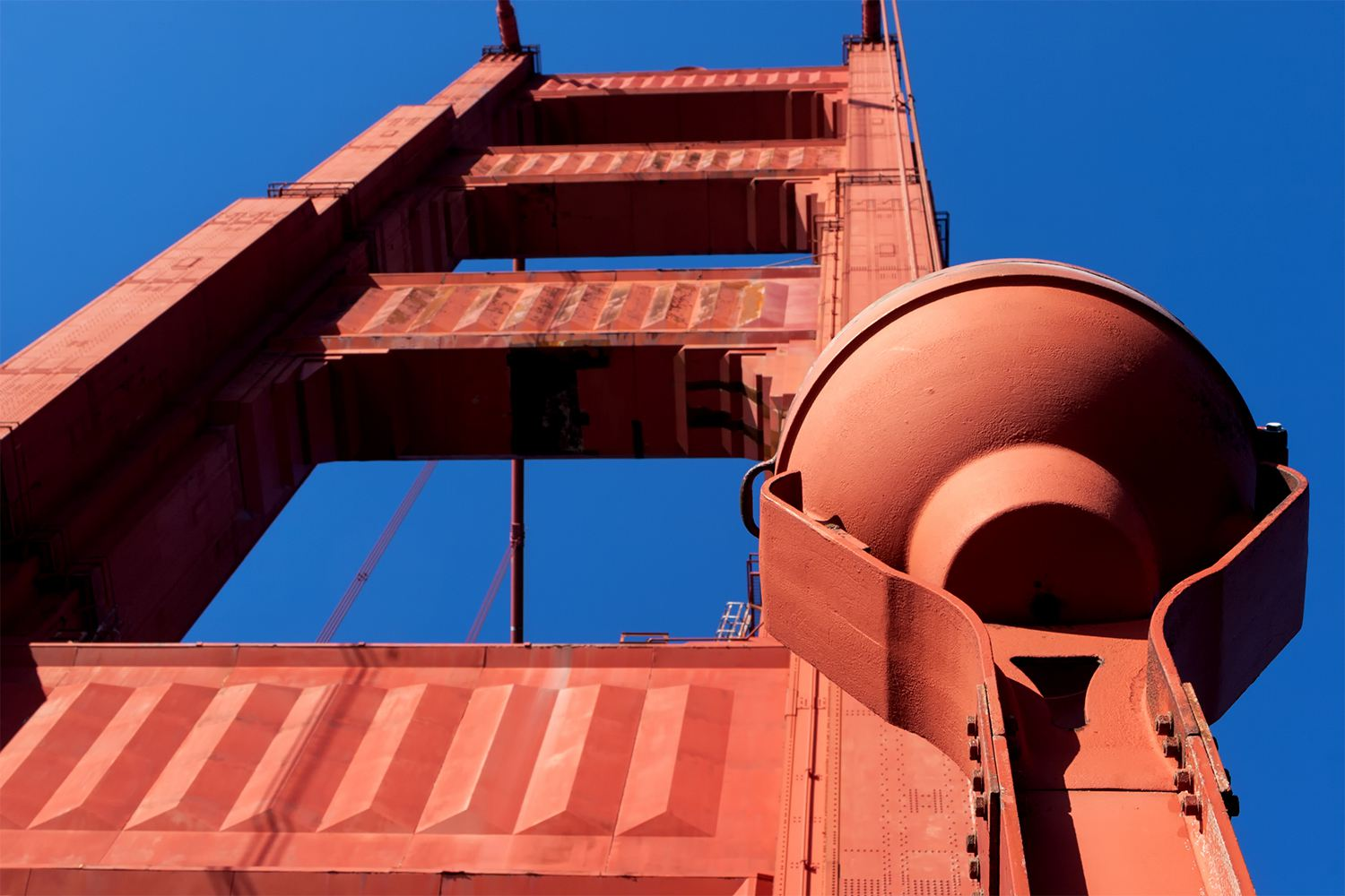 Looking up at One of the Golden Gate Bridge Towers
