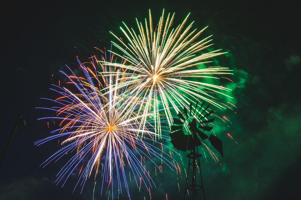 fireworks outside of Salt Lake City, Utah