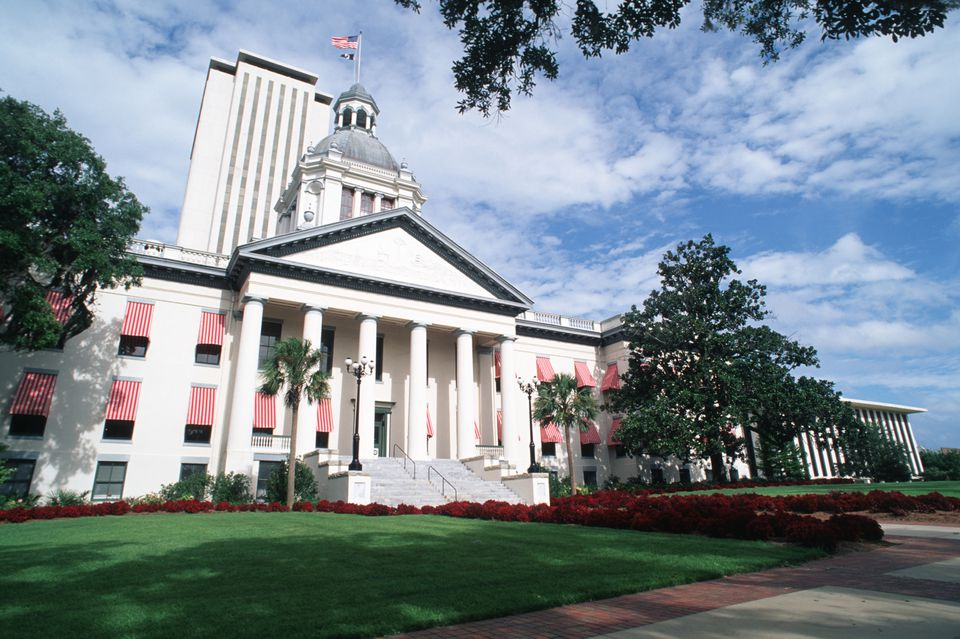 Old and New State Capitol Buildings in Tallahassee, Florida