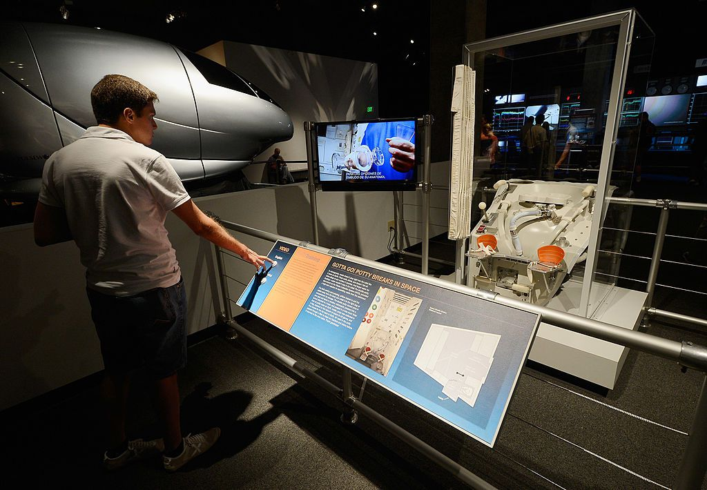 An exhibit at the California Space Science Center.
