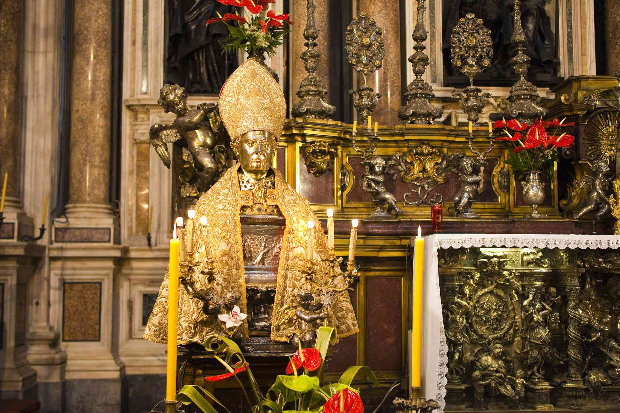 Statue of San Gennaro in Naples Duomo