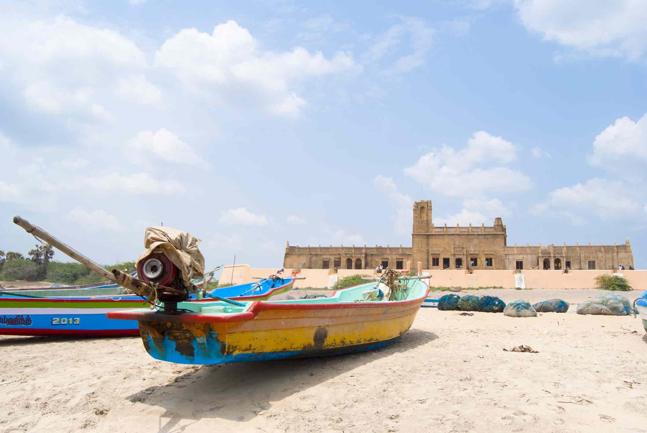 Fishing boat in Tranquebar