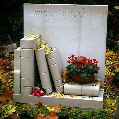 Jeremy Beadle Tombstone, East Cemetery, Highgate Cemetery, London