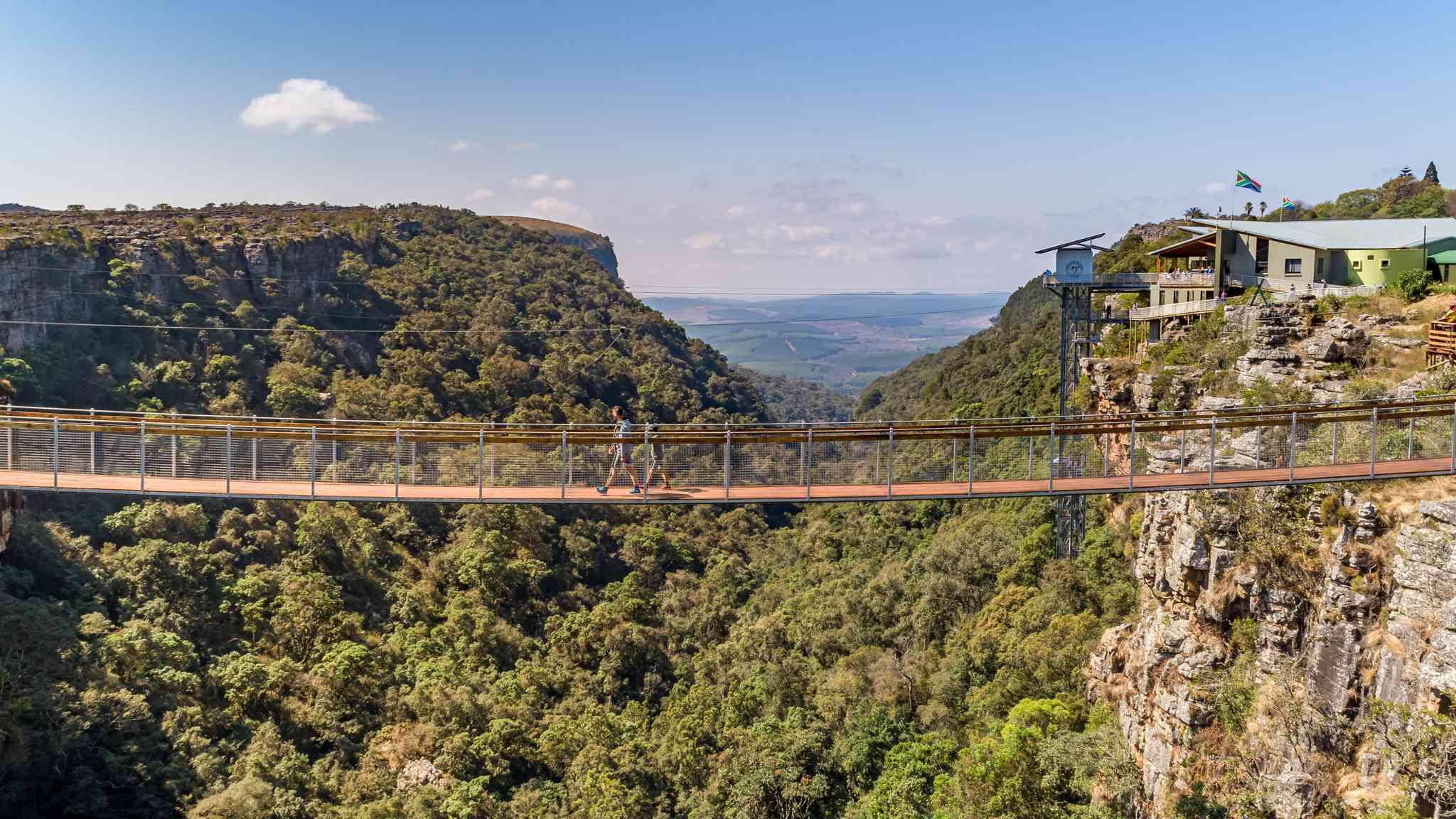 Graskop Gorge lift and bridge, Mpumalanga