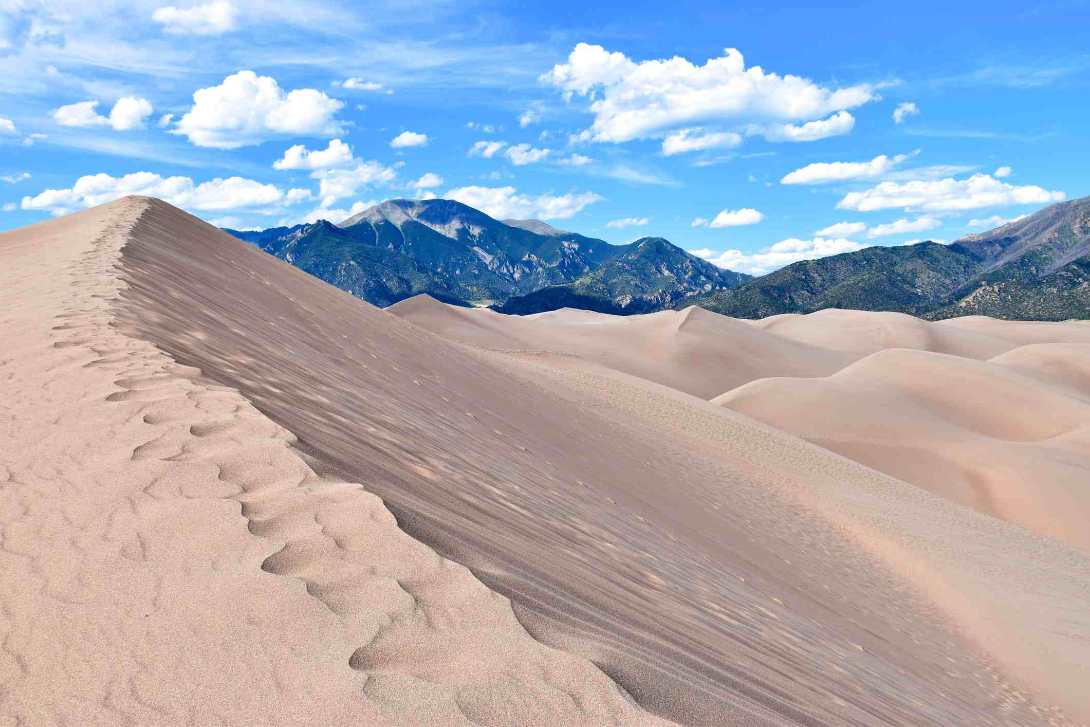 Scenic View Of Great Sand Dunes National Park And Preserve