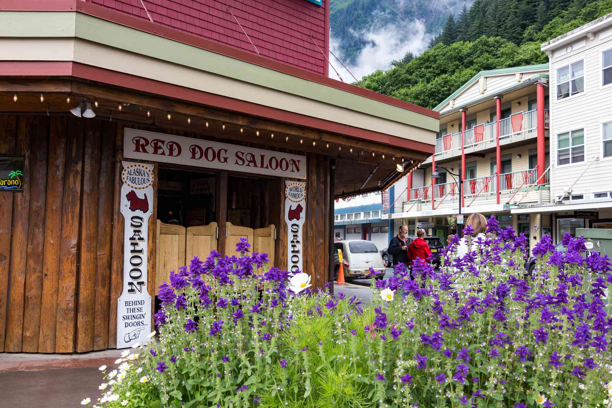 The Red Dog Saloon, placed at Franklin St, Juneau.