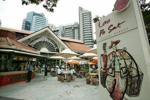Lau Pa Sat Festival Market in Singapore