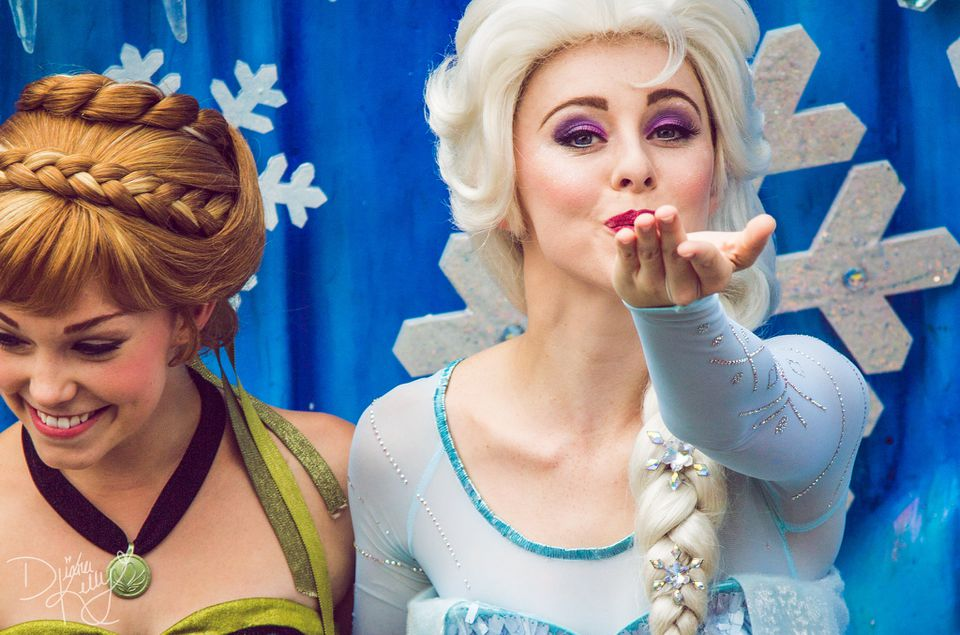 Anna y Elsa Frozen en Disney World